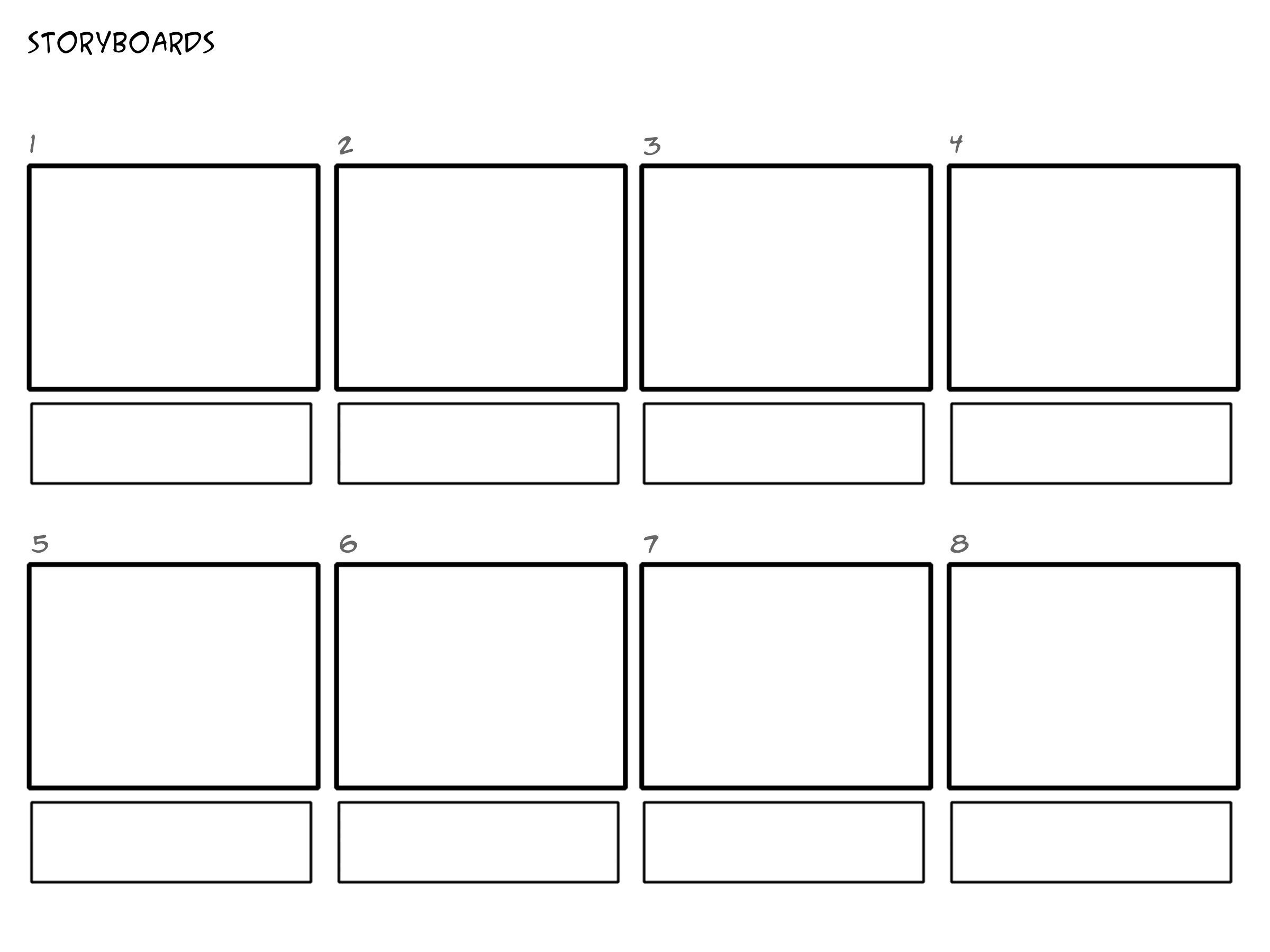 Professional-film-storyboard-template