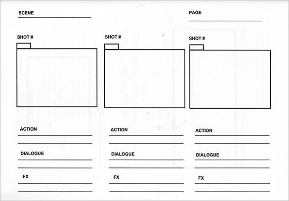 Video-storyboard-template
